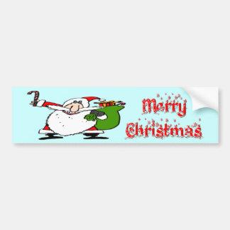 Santa & Toy Bag Car Bumper Sticker