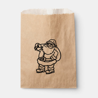 Santa Toy Sack Christmas Holiday Favor Treat Favour Bags