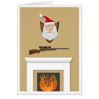 Santa Trophy Greeting Cards