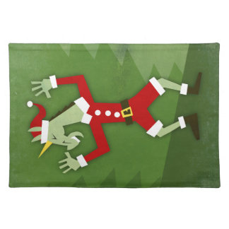 Santa Unicorn In the House Placemat