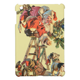 Santa Up a Ladder iPad Mini Case