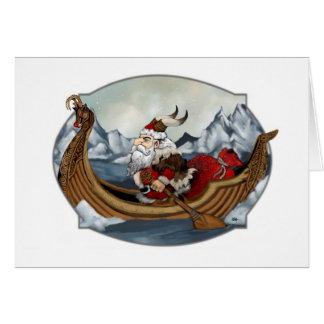 Santa Viking Card