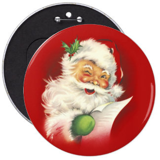 Santa Vintage Button
