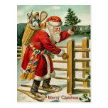 Santa Vintage Christmas Postcard