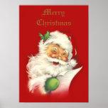 Santa Vintage Poster