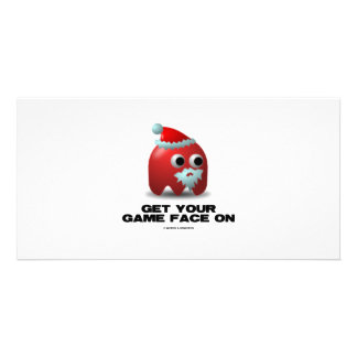 Santa Virtual Game Face Photo Cards