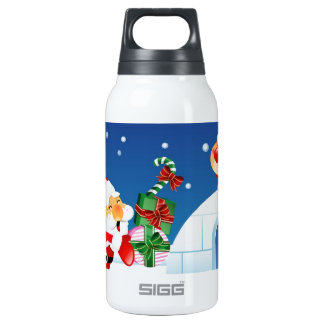 santa visit 10 oz insulated SIGG thermos water bottle