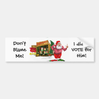 Santa w/Elves for Rent/Political Joke Bumper Sticker