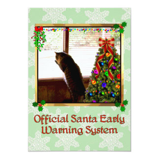 Santa Watch 13 Cm X 18 Cm Invitation Card