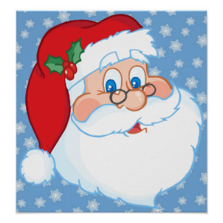 Santa Wearing Glasses Poster