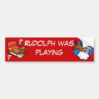 Santa Where is Your Sleigh? Bumper Sticker