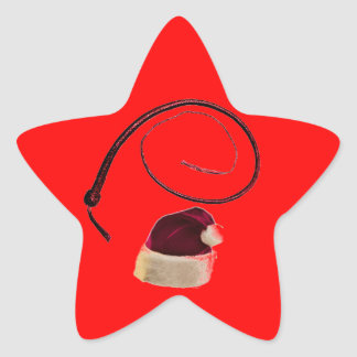 SANTA WHIP STAR STICKER