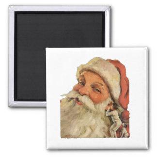 Santa Whispers Square Magnet