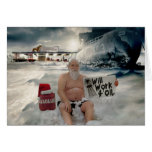 Santa Will Work for Oil Greeting Card