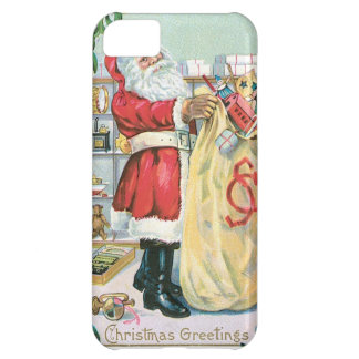 Santa with a big bag of gifts iPhone 5C case
