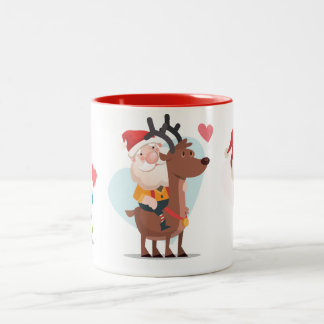Santa with a boy and a girl Coffee Mug