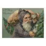 Santa with a Sack Christmas Card