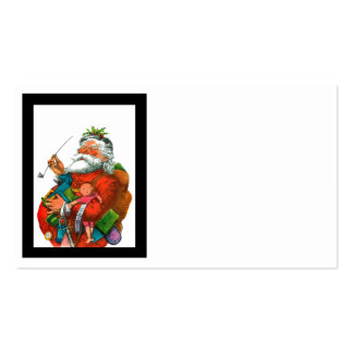 Santa with Bag of Toys Pack Of Standard Business Cards