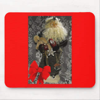 Santa with Border and Bow Mouse Pad