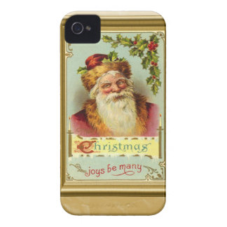 Santa with Christmas Greetings Case-Mate iPhone 4 Cases