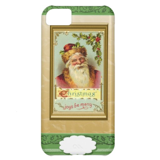 Santa with Christmas Greetings Case For iPhone 5C