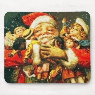 Santa with Dolls Mouse Mat