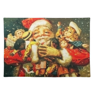 Santa with Dolls Placemat