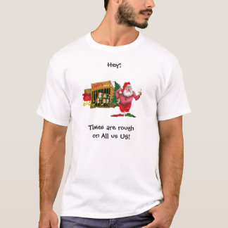Santa with elves for rent T-Shirt