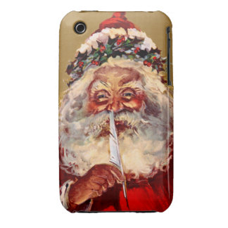 Santa with Feather iPhone 3 Covers
