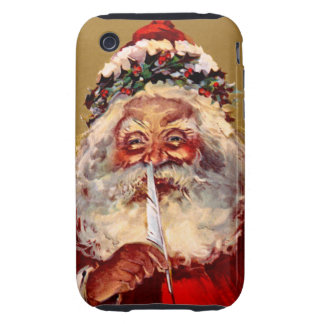 Santa with Feather Tough iPhone 3 Cover