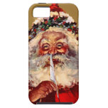 Santa with Feather iPhone 5 Cover