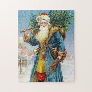 Santa with Fir Tree Puzzle