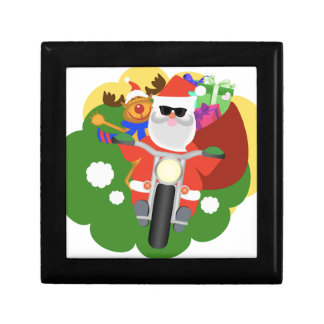 Santa with Goodie Bag Small Square Gift Box