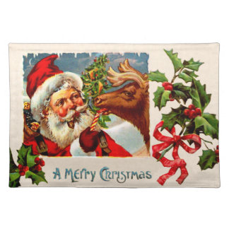 Santa with Reindeer Placemat