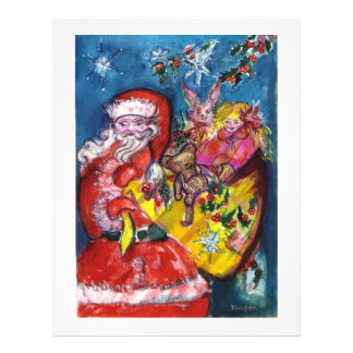 SANTA WITH TOYS,GIFTS SACK Christmas 21.5 Cm X 28 Cm Flyer
