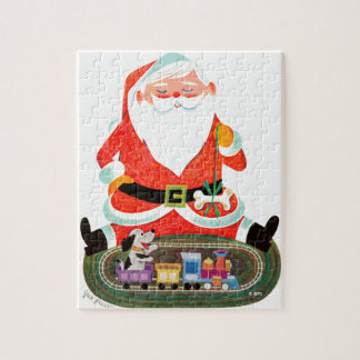 Santa with Train Jigsaw Puzzle