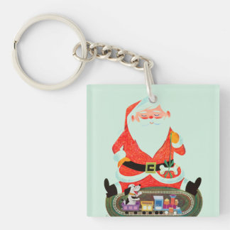 Santa with Train Key Ring