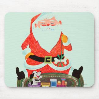 Santa with Train Mouse Pad