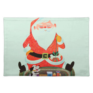 Santa with Train Placemat