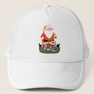 Santa with Train Trucker Hat
