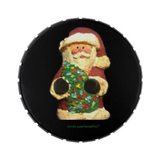 SANTA WITH TREE TEACHER JELLY BELLY CANDY TIN