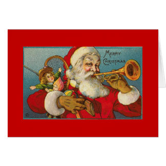 Santa WITH TRUMPET Card