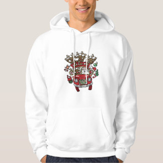 Santa Woody and His Reindeer Christmas Cartoon Hoodie