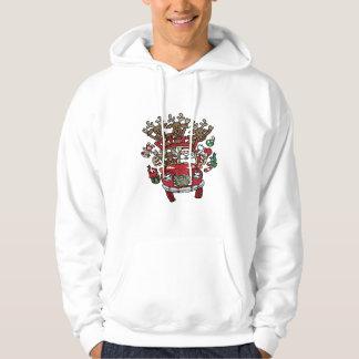 Santa Woody and His Reindeer Christmas Cartoon Sweatshirt