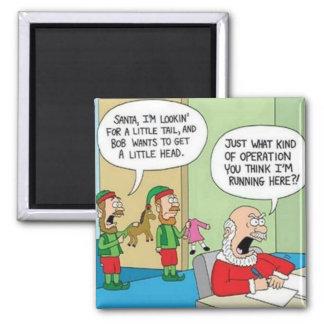 Santa Workshop Operation Square Magnet