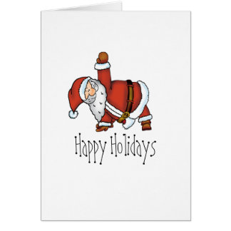 Santa Yoga - Christmas Design with a Yoga Santa Greeting Card