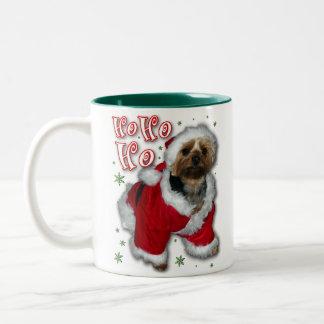 Santa Yorkie Coffee Mug