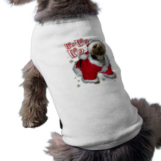 Santa Yorkie Dog T-Shirt