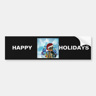 Santa Yorkie Poo Bumper Sticker