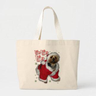 Santa Yorkie Tote Bag
